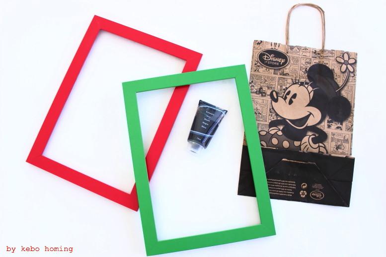 Ein kleines Mini DIY mit Micky und Minnie Maus fürs Kinderzimmer... Upcycling aus Papiertüte und alten Ikea Bilderrahmen beim Südtiroler Lifestyleblog kebo homing, Basteln mit Kindern