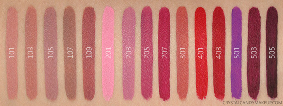 Make Up For Ever Artist Liquid Matte Lip Colors Lipsticks Swatches