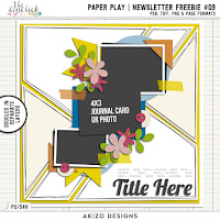 Template : Paper Play News letter Freebie 9 by Akizo Designs