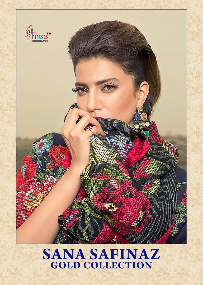 Shree fabs sana safinaz gold collection Pakistani style suits