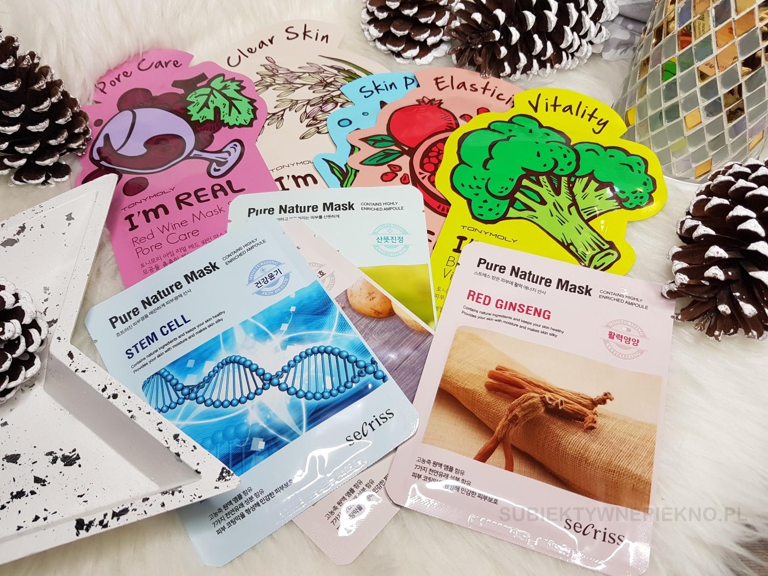 Pomysły na prezenty świąteczne do 100zł - maski w płachcie Tony Moly