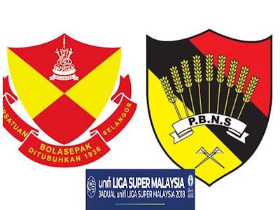 Live Streaming Selangor vs Negeri Sembilan Liga Super 28 April 2018