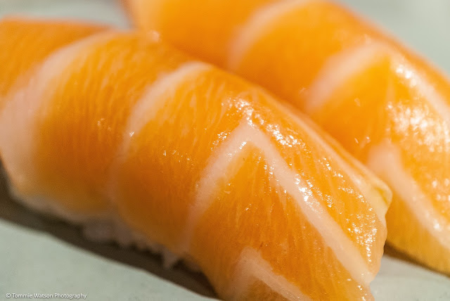 Salmon Nigiri at M Sushi Durham