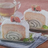 roti cake stroberi kukus