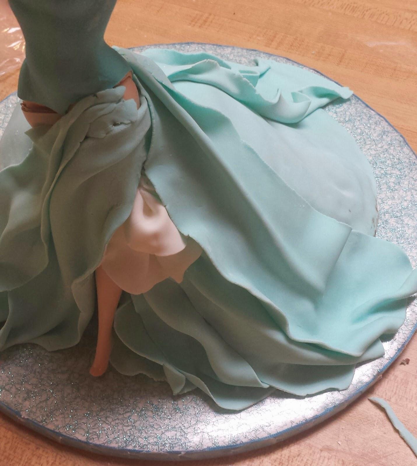 how to make a dress cake