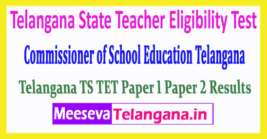 TS TET Telangana State Teacher Eligibility Test 2018 Results For Paper 1 Paper 2  Download