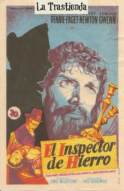Programa de Cine - El Inspector de Hierro - Michael Rennie - Debra Paget