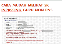 Cara Mudah Melihat SK Inpassing Guru Non PNS