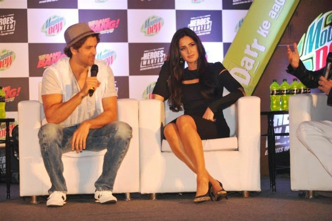 Hrithik and Katrina Promoting Bang Bang
