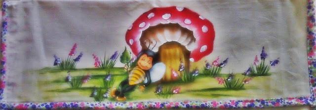 pintura em tecido porta assadeira