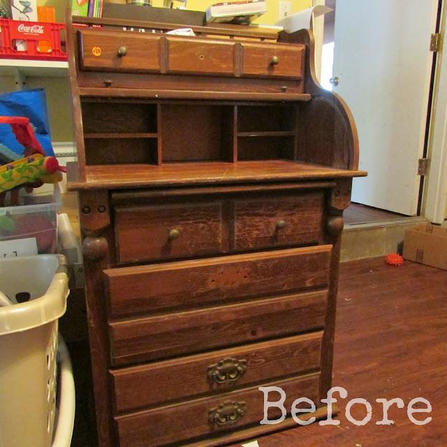 Rolltop Desk Makeover