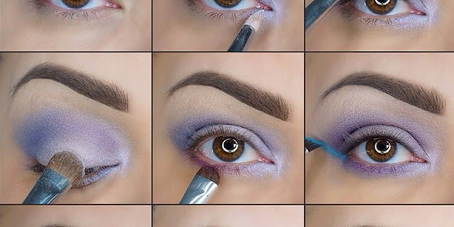 Purple Looking Makeup – Step by Step Tutorial