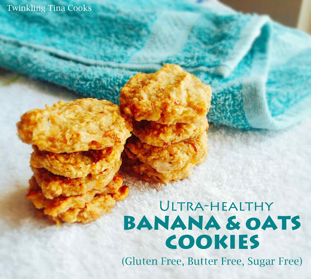 gluten free cookies, oats and banana cookies, oats cookies, recipe, healthy cookie recipe, clean eating, breakfast cookie
