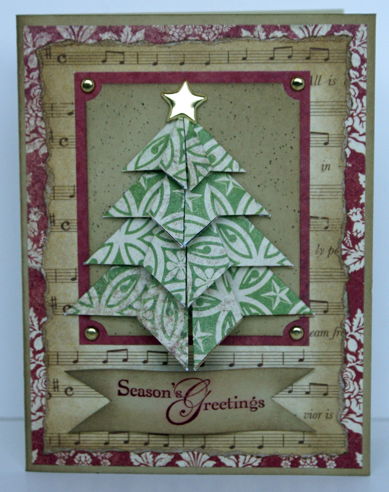 The Happy Yappy Scrapper: Origami Christmas Tree Card Class