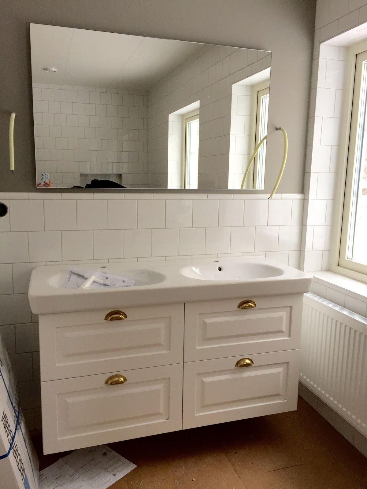 50 nyanser av vitt: uppdatering av badrummet
