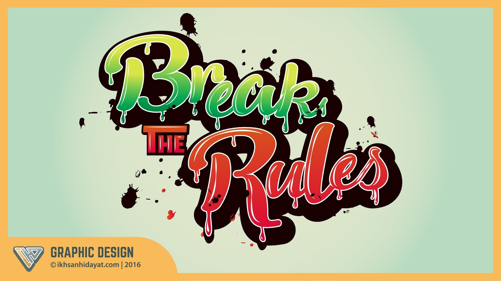 Graphic design text effect typography style break the rules perhaps you have trouble making a typography especially if you are a beginner who has never made anything like this but you do not have to painstakingly baditri Gallery