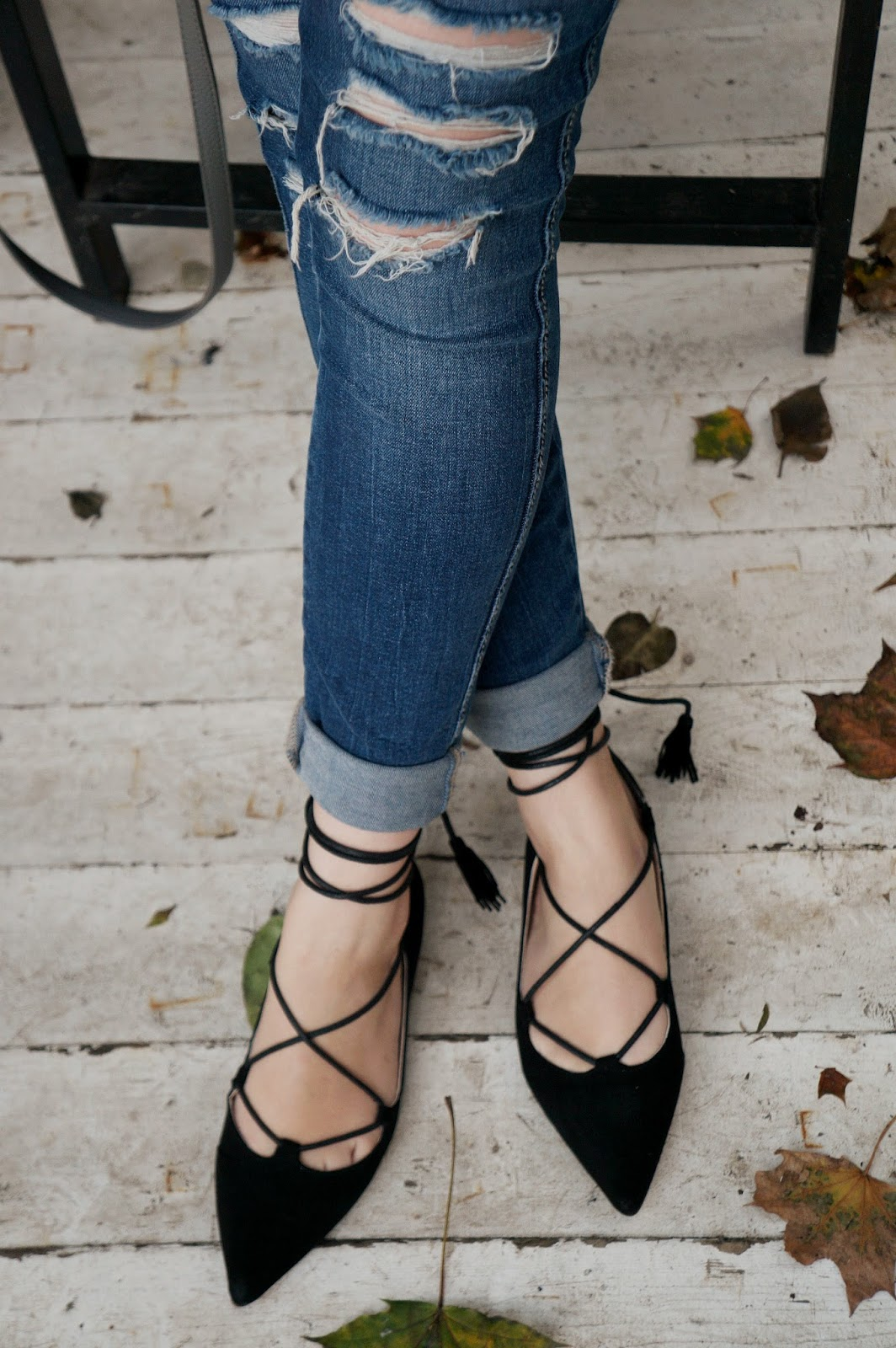 Lace Up Flats Trend