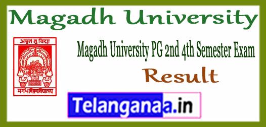 Magadh University PG 2nd 4th semester Result 2017
