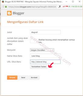 daftar link (blogroll)