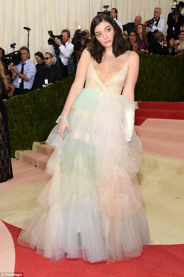 Lorde suffers nip slip at the Met Gala 2016 in NYC