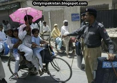 Funny Pakistani cycle riders