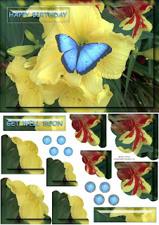Butterfly Corner Stacker Card Sheet Freebie