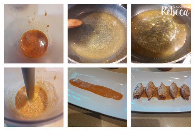 Receta de calamares rellenos: la salsa