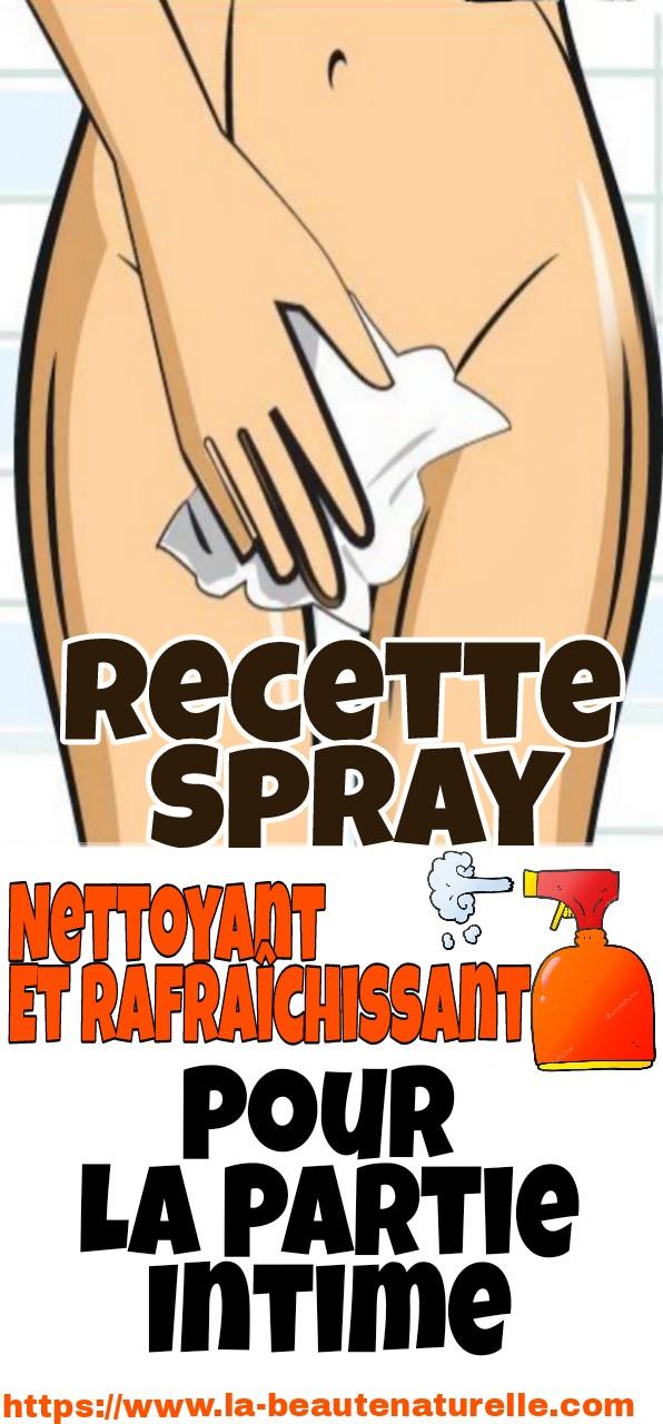 Recette spray nettoyant et rafraîchissant pour la partie intime