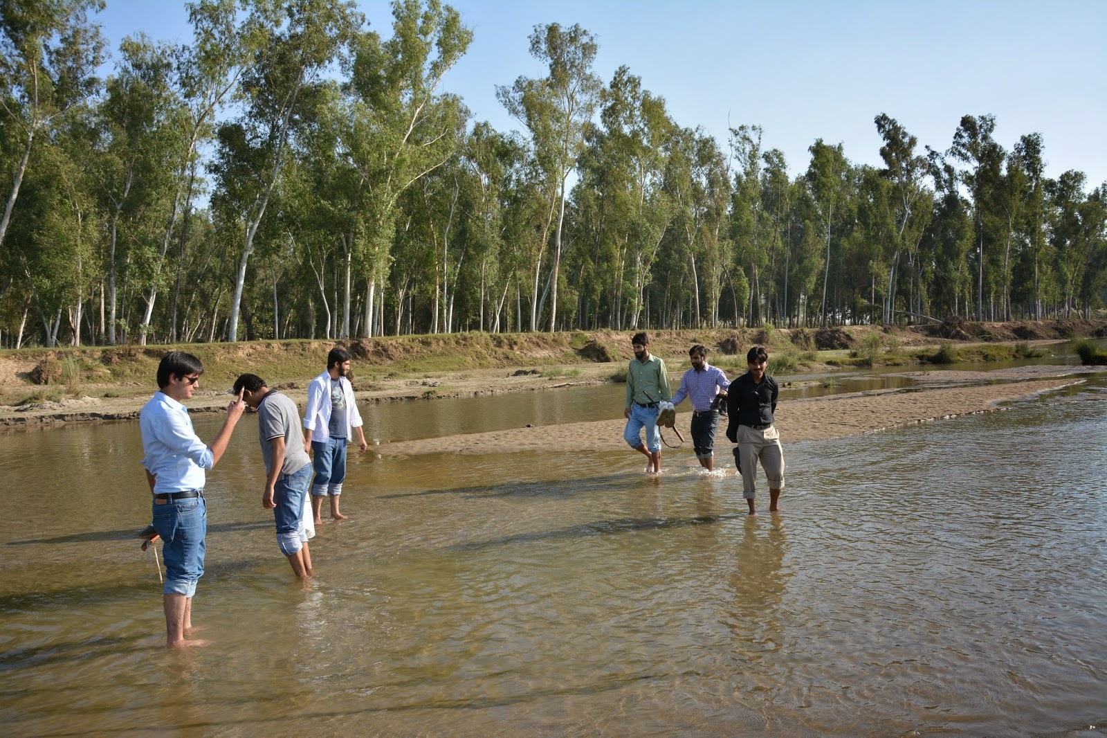 Basantar river in Barapind