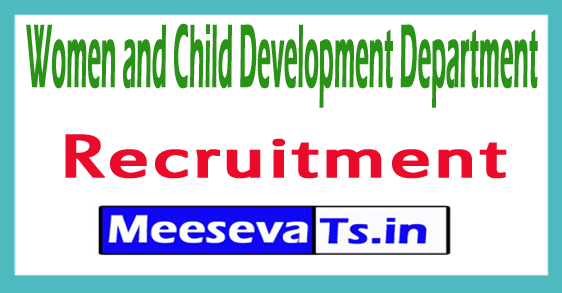 Women and Child Development Department WCDD Recruitment