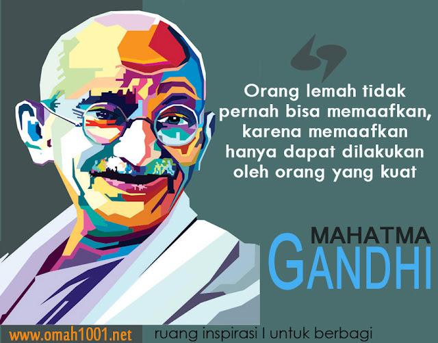 Mahatma Ghandi, Manusia Kuat