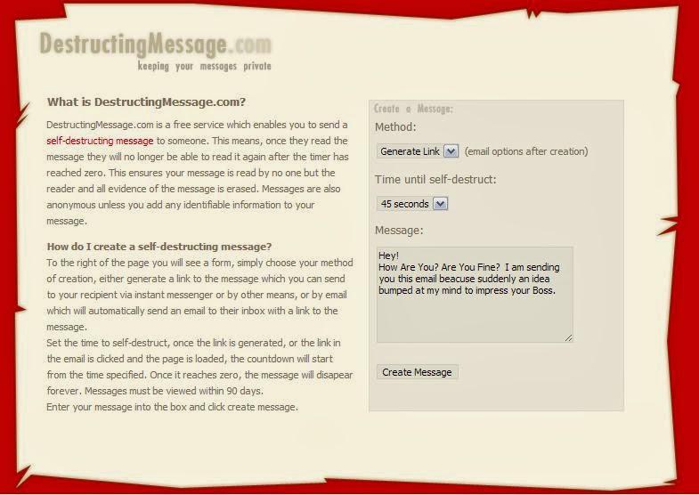 DestructingMessage.com