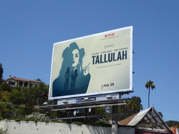 Tallulah Netflix film billboard