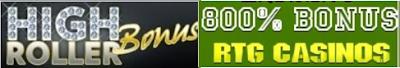 Exclusive Casino High Roller Match Bonuses | RTG Casinos