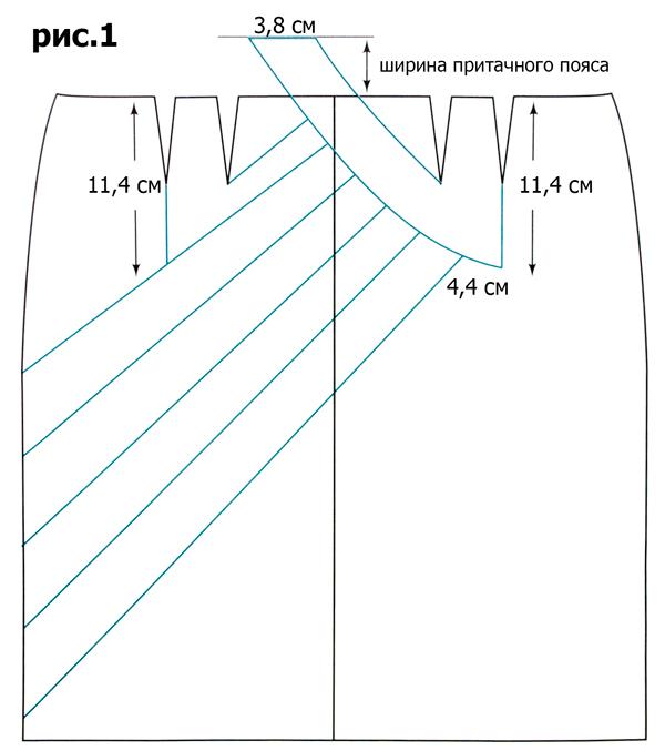 Выкройки юбок с подрезом