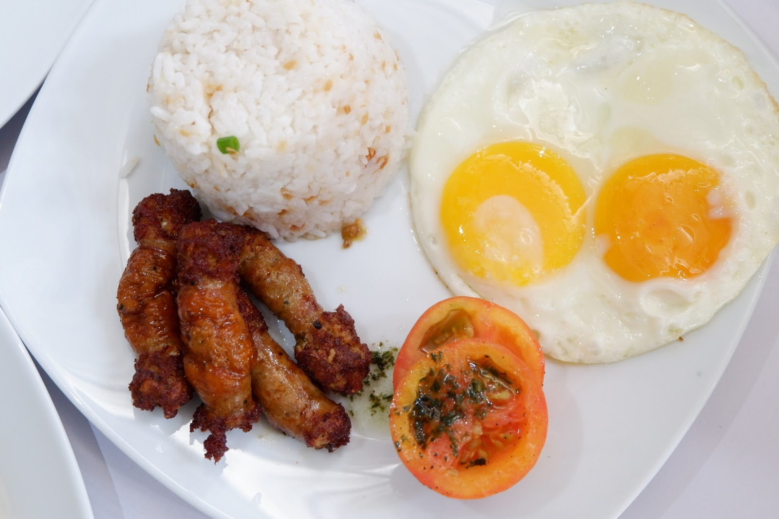 fried Longganisa with egg here in Kanto Freestyle