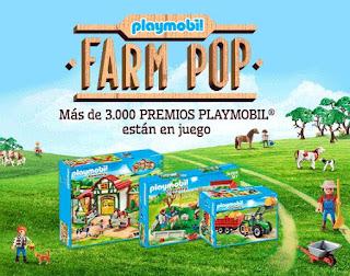 Playmobil Farm pop sorteo danone