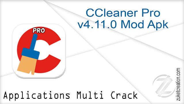 CCleaner Pro v4.11.0 Mod Apk