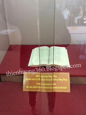 Sách ngữ vựng cụ Nguyễn Sinh Sắc đã sử dụng để tự học tiếng Pháp