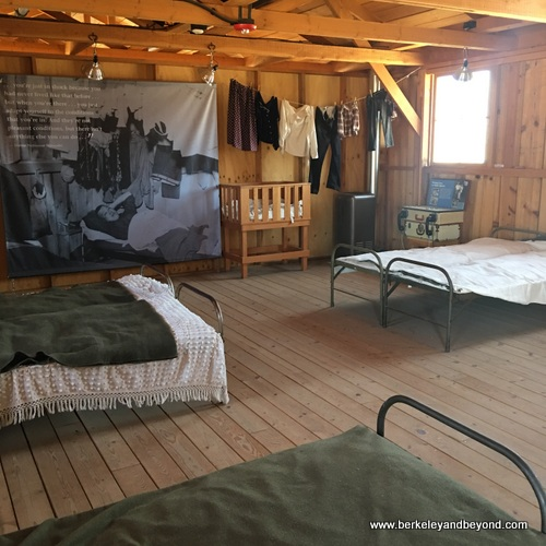 inside barracks at Manzanar National Historic Site in Independence, California