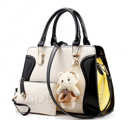 Color Block Teddy Bear Bag