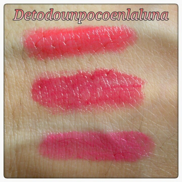 swatches power pout mua runaway crazy in love  broken heart