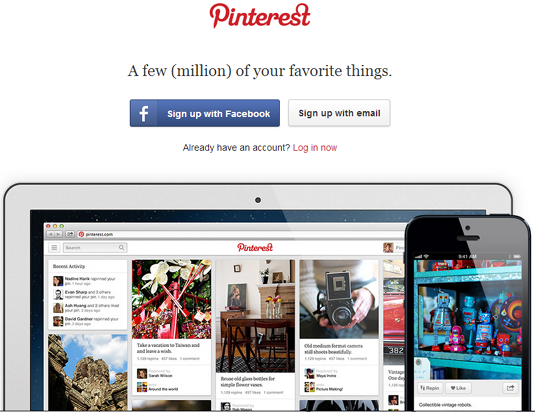 Social networking sites pinterest