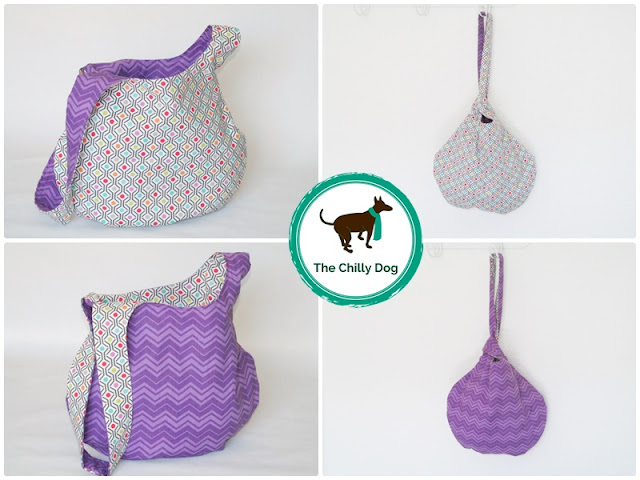 Sewing Pattern and Tutorial: How to make a reversable Japanese knot bag