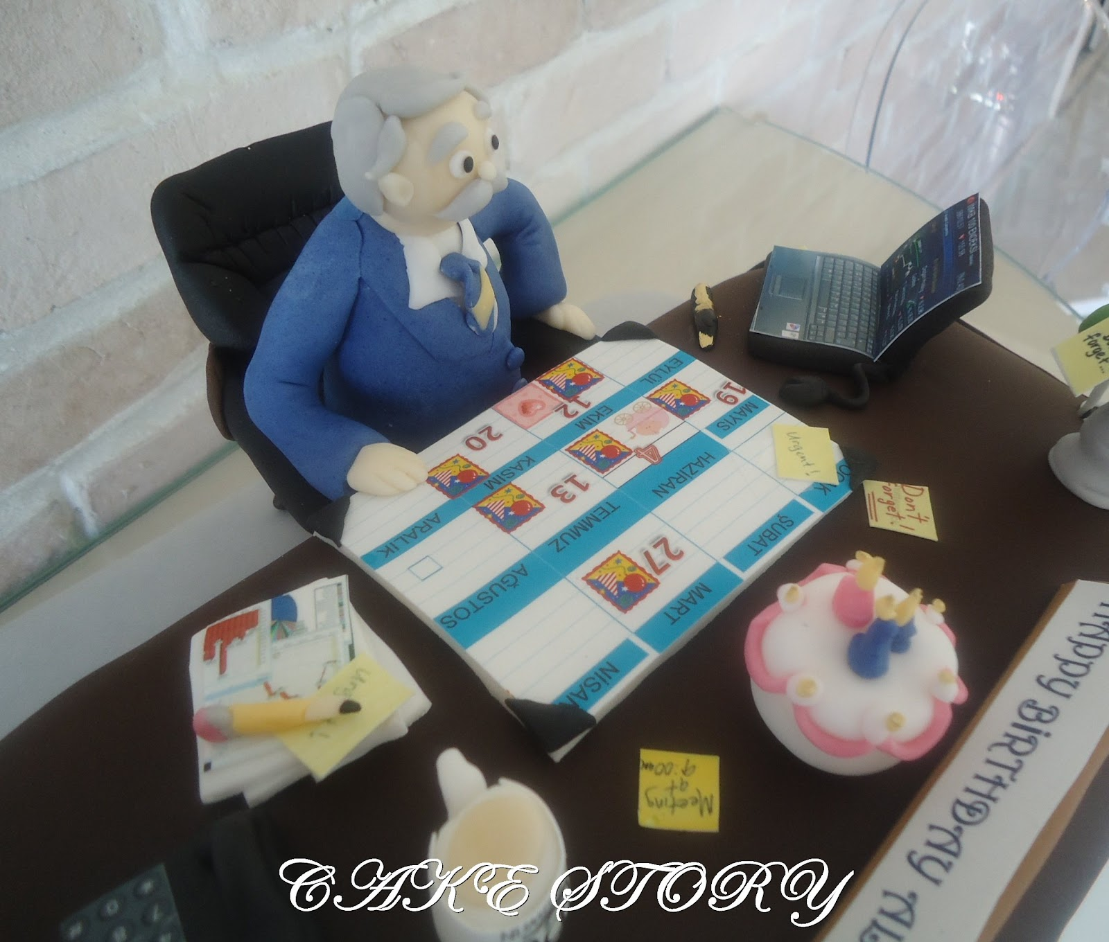 Cake Story Father At Work Birthday Cake