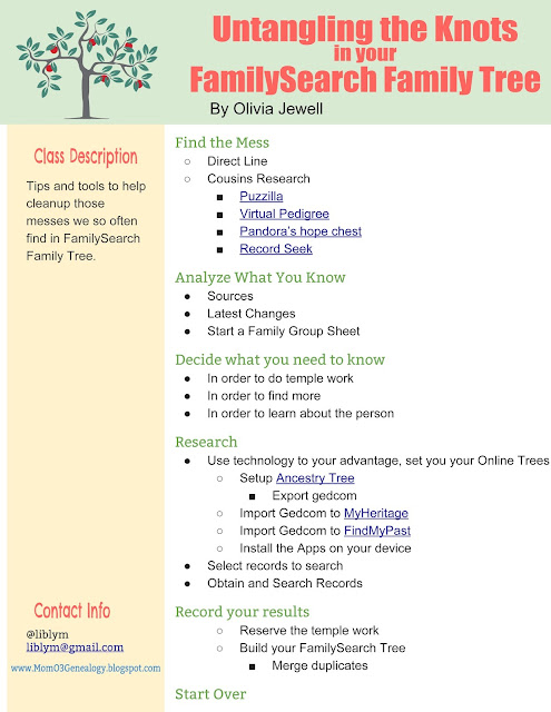 Mom O\u0027 3 Genealogy Untangling the Knots in Your FamilySearch Family - build family tree online