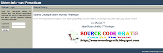 Free Download PHP Source Code Sistemm Informasi Persediaan Barang