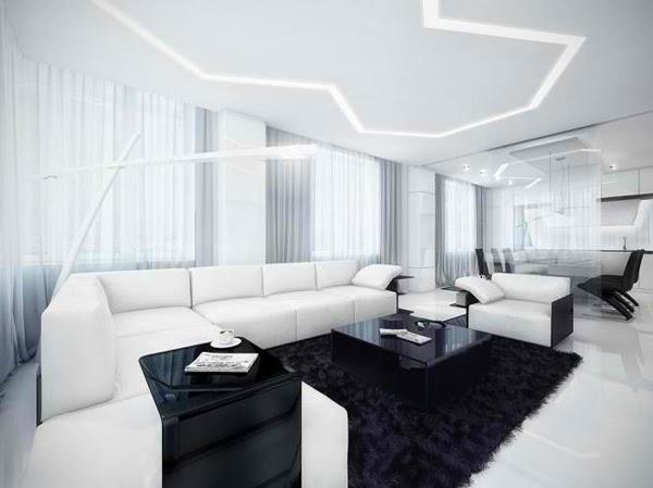 Dcoration Salon en Noir et Blanc  Dcoration Salon  Dcor de Salon