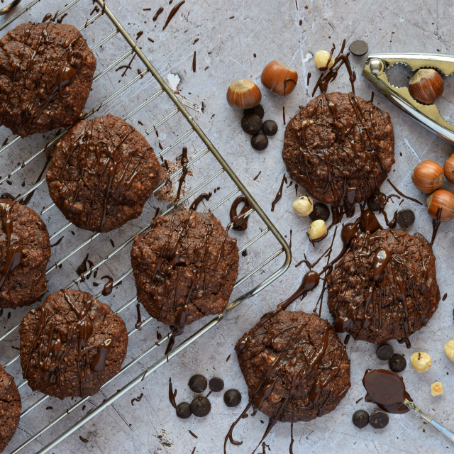 Chocolate and Hazelnut Cookies from Monika at Everyday Healthy Recipes