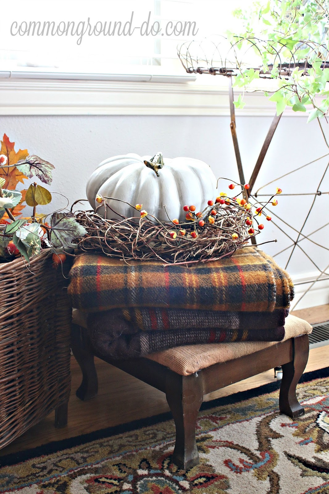 How Long Do Air Conditioners Last >> common ground : Vintage Basket Refresh for Fall